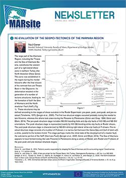 Earthquake Istanbul Newsletter MARsite